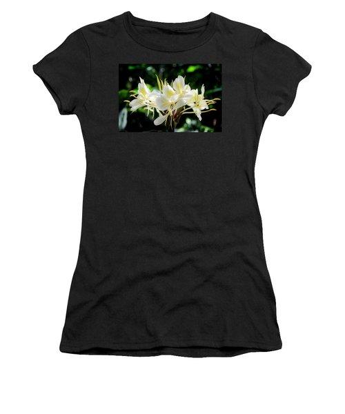 White Hawaiian Flowers Women's T-Shirt