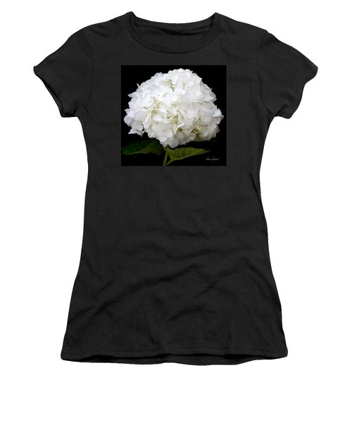 White Hydrangea Women's T-Shirt (Athletic Fit)