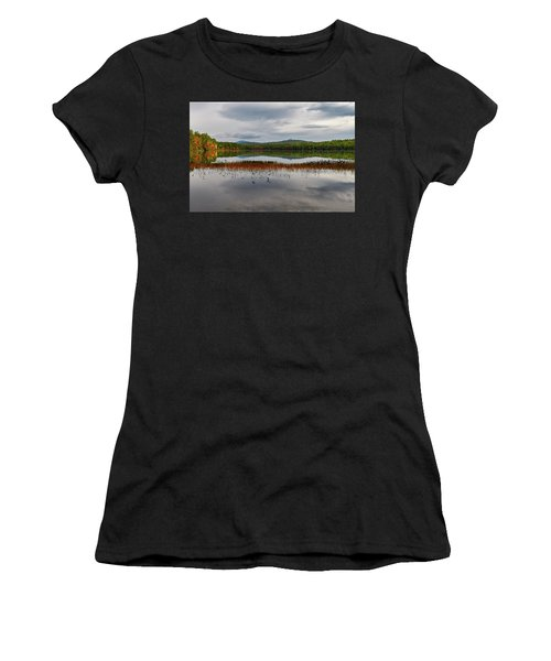 Women's T-Shirt featuring the photograph White Lake Fall Chocorua Nh by Michael Hubley