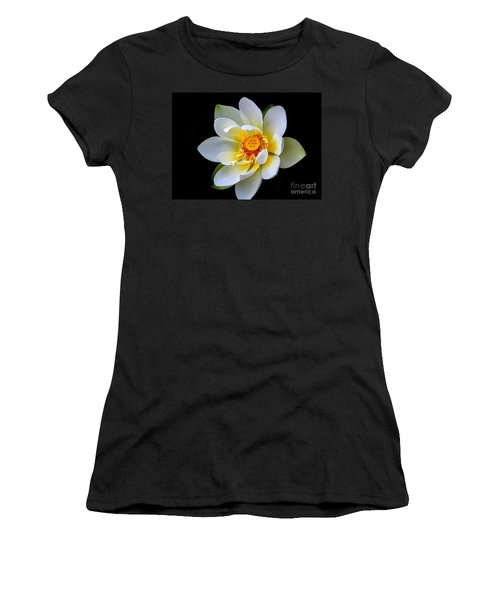 White Lotus Flower Women's T-Shirt (Athletic Fit)