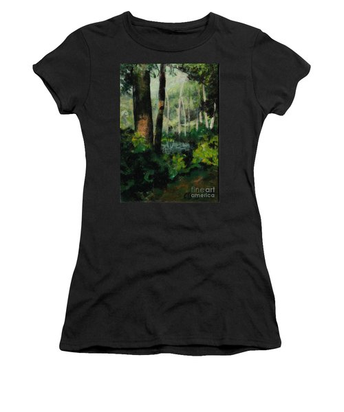 White Mountain Woods Women's T-Shirt (Athletic Fit)