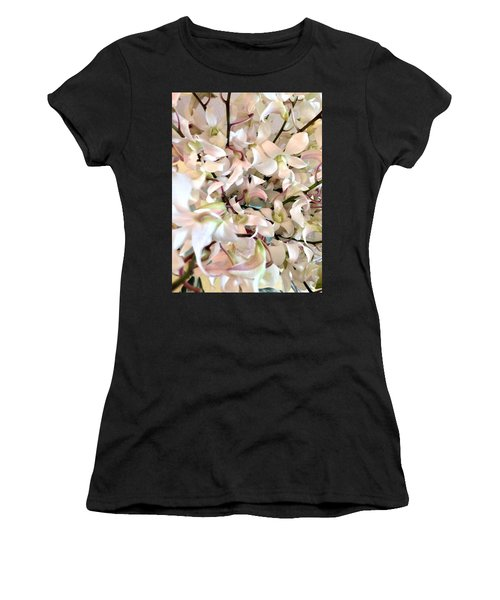 White Orchid Cluster Women's T-Shirt