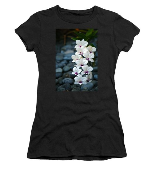 Women's T-Shirt (Junior Cut) featuring the photograph White Orchids by Debbie Karnes
