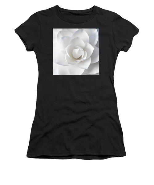 White Petals Women's T-Shirt (Athletic Fit)