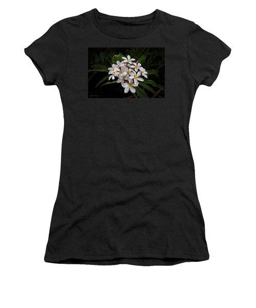 White Plumerias In Bloom Women's T-Shirt