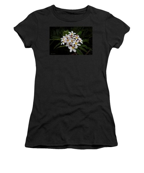 White Plumerias In Bloom Women's T-Shirt