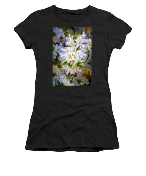 White Rhododendron Women's T-Shirt (Athletic Fit)