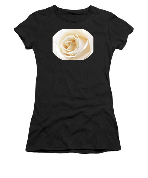 White Rose Heart Women's T-Shirt (Athletic Fit)