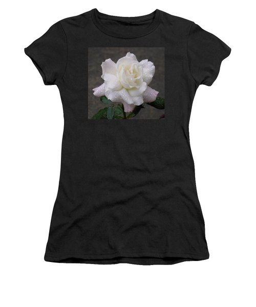 White Rose In Rain - 3 Women's T-Shirt (Athletic Fit)
