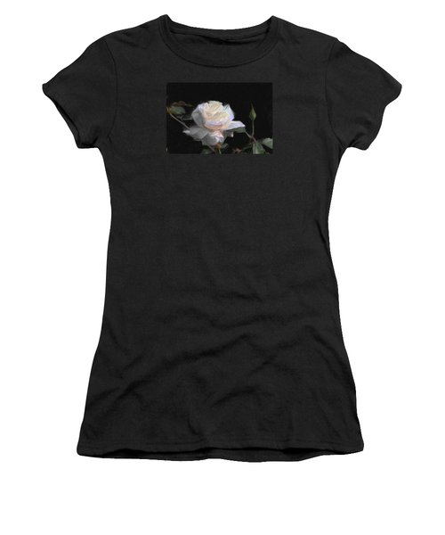 White Rose Painting Women's T-Shirt (Athletic Fit)