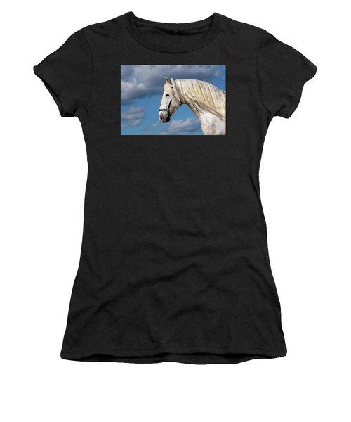 White Stallion Women's T-Shirt (Athletic Fit)
