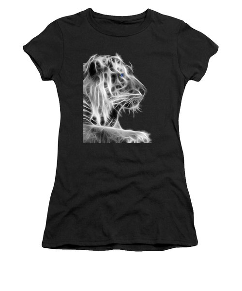 White Tiger Women's T-Shirt (Athletic Fit)