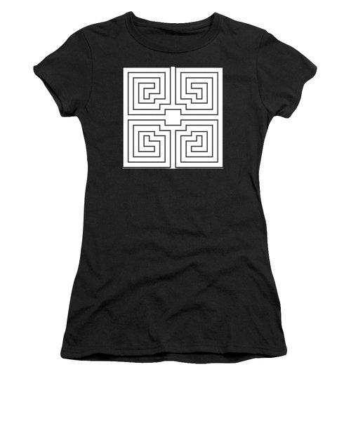 White Transparent Design Women's T-Shirt (Athletic Fit)