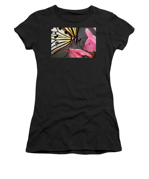 White Tree Nymph Butterfly Women's T-Shirt