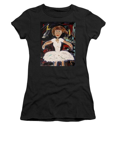 White Tutu Women's T-Shirt (Junior Cut) by Mary Carol Williams