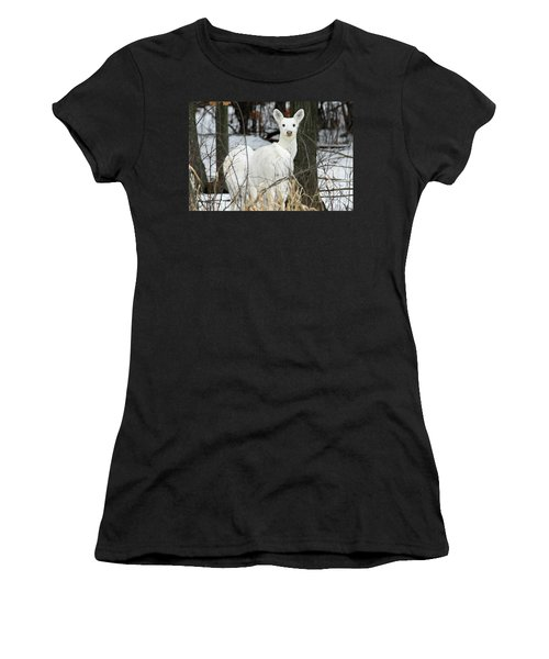 White Visitor Women's T-Shirt (Athletic Fit)