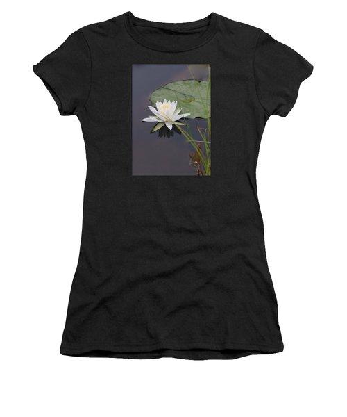 White Water Lotus Women's T-Shirt (Athletic Fit)
