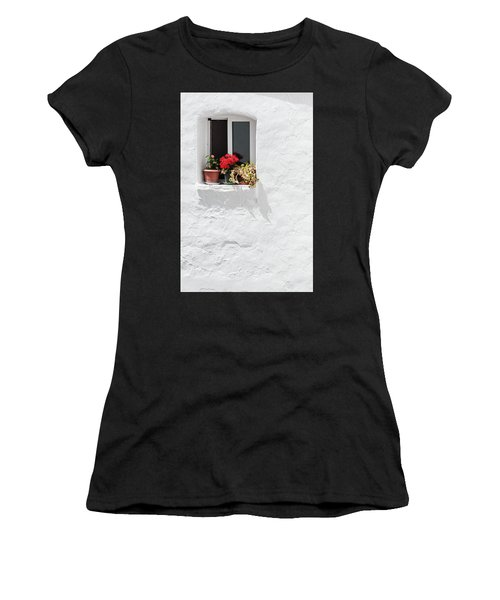 White Window Women's T-Shirt (Athletic Fit)