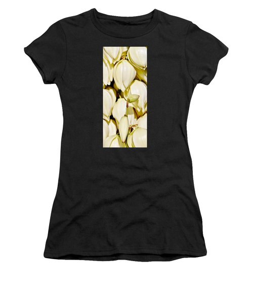white Yucca flowers Women's T-Shirt (Athletic Fit)