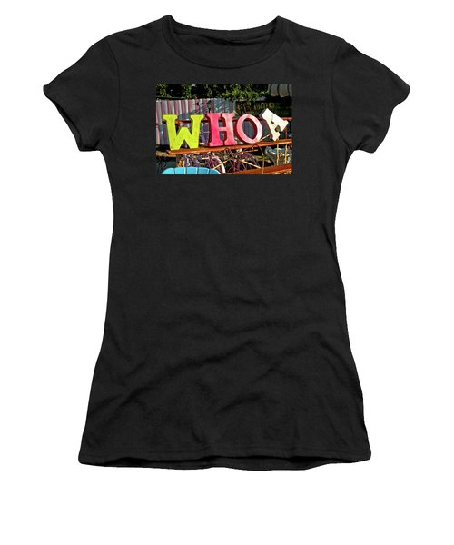 Whoa Women's T-Shirt (Athletic Fit)