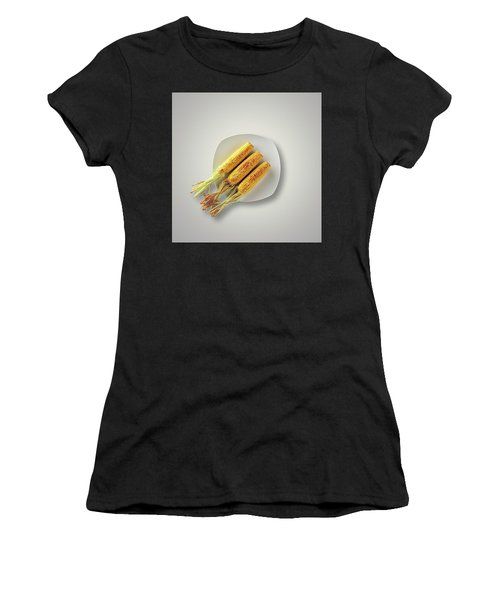 Whole Grilled Corn On A Plate Women's T-Shirt