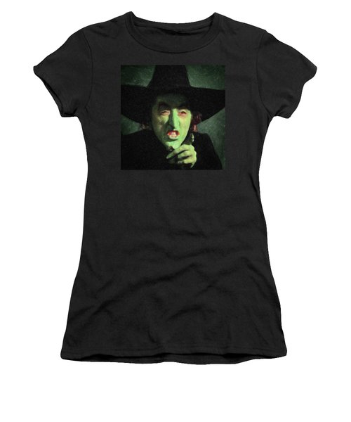 Wicked Witch Of The East Women's T-Shirt (Junior Cut) by Taylan Apukovska
