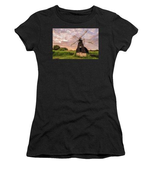 Wicken Wind-pump At Sunset II Women's T-Shirt