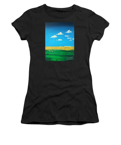 Wide Open Spaces And A Big Blue Sky Women's T-Shirt (Athletic Fit)