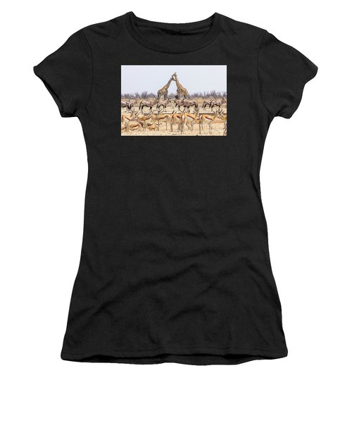 Wild Animals Pyramid Women's T-Shirt