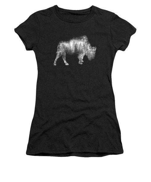 Wild Bison Women's T-Shirt (Junior Cut) by Diana Van