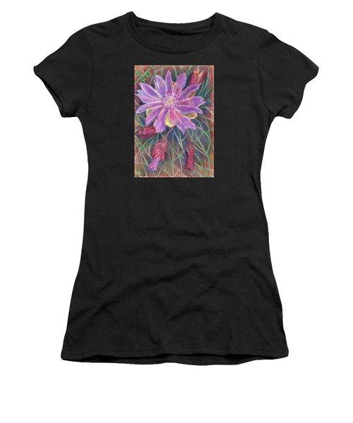 Wild Bitterroot Flower Women's T-Shirt (Athletic Fit)