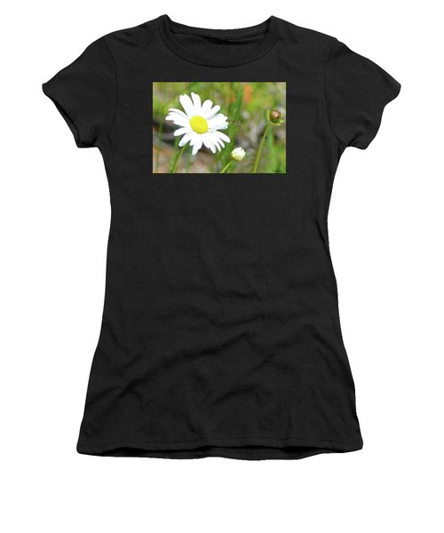 Wild Daisy With Visitor Women's T-Shirt
