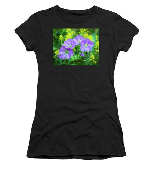 Wild Geranium Family Portrait Women's T-Shirt (Athletic Fit)