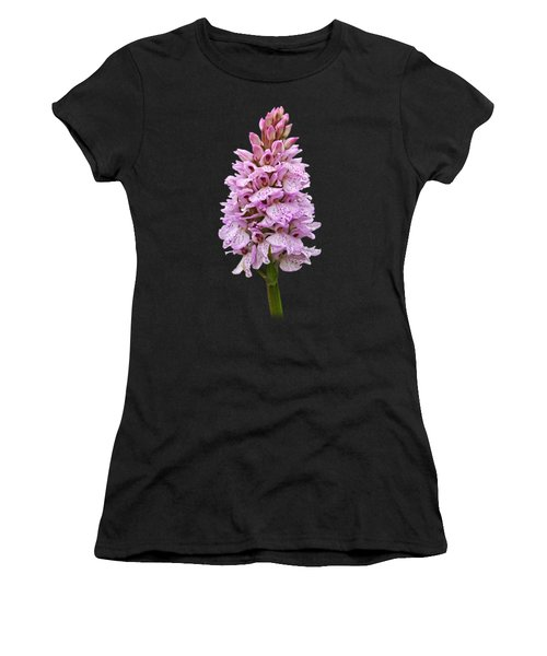 Wild Pink Spotted Orchid Women's T-Shirt