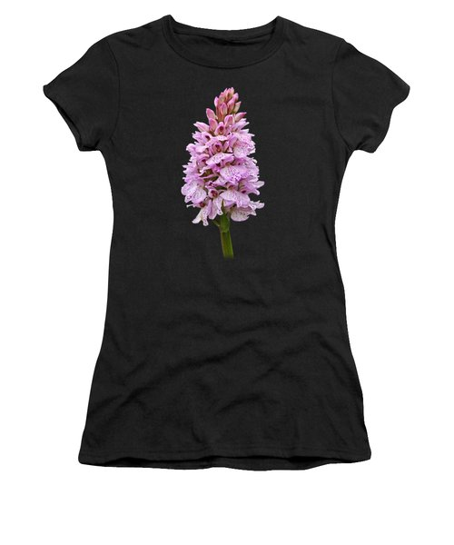 Wild Pink Spotted Orchid Women's T-Shirt (Athletic Fit)