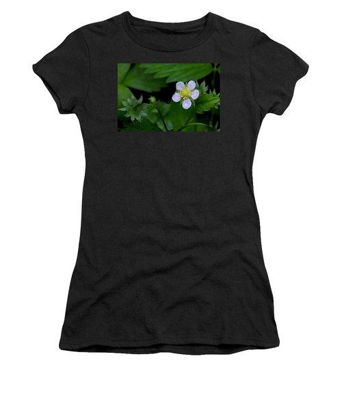 Wild Strawberry Blossom And Raindriops Women's T-Shirt