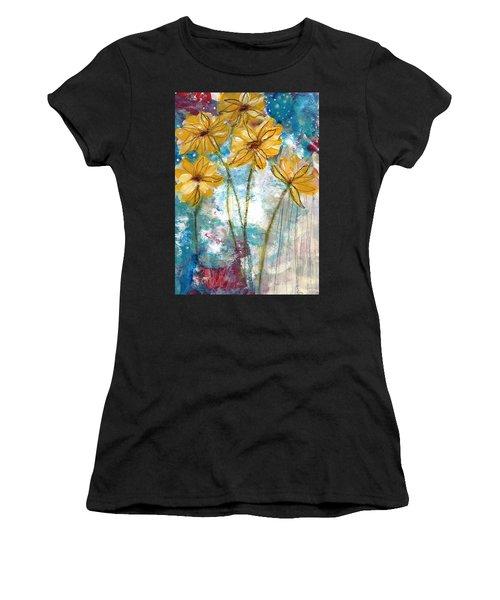 Wild Sunflowers- Art By Linda Woods Women's T-Shirt