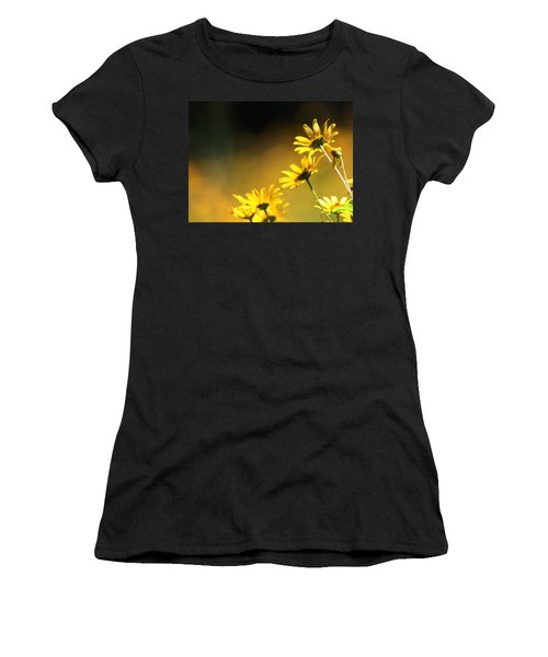 Wild Sunflowers Stony Brook New York Women's T-Shirt (Athletic Fit)