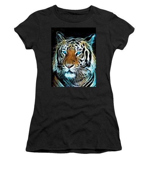 Women's T-Shirt (Junior Cut) featuring the digital art Wild Thang by Karen Showell