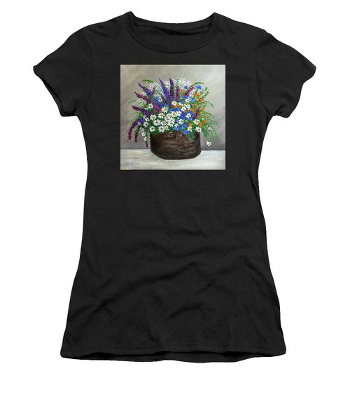 Wildflower Basket Acrylic Painting A61318 Women's T-Shirt