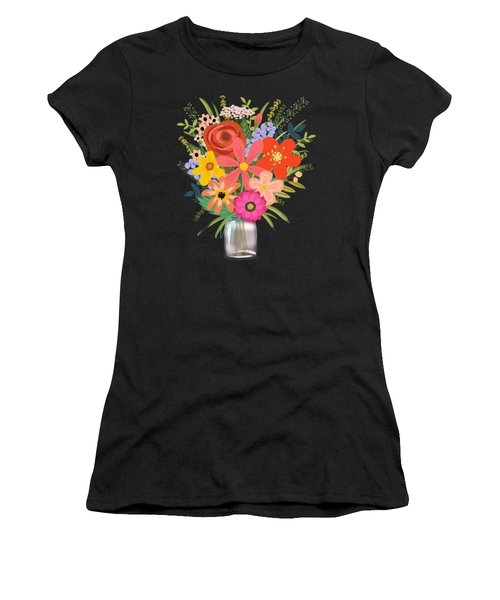 Wildflower Bouquet Women's T-Shirt (Athletic Fit)