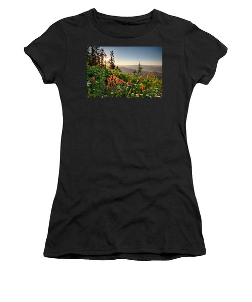 Wildflower View Women's T-Shirt (Athletic Fit)
