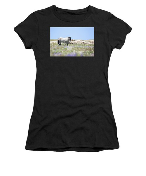 Wildflowers And Mustang Women's T-Shirt
