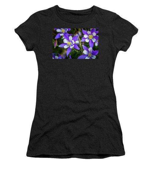 Wildflowers Blue Columbines Women's T-Shirt