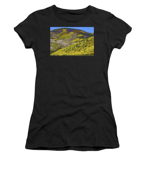 Wildflowers Galore At Carrizo Plain National Monument In California Women's T-Shirt (Athletic Fit)