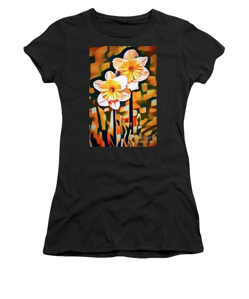 Wildly Abstract Daffodil Pair Women's T-Shirt