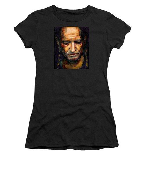 Willie Nelson Portrait 2 Women's T-Shirt (Athletic Fit)