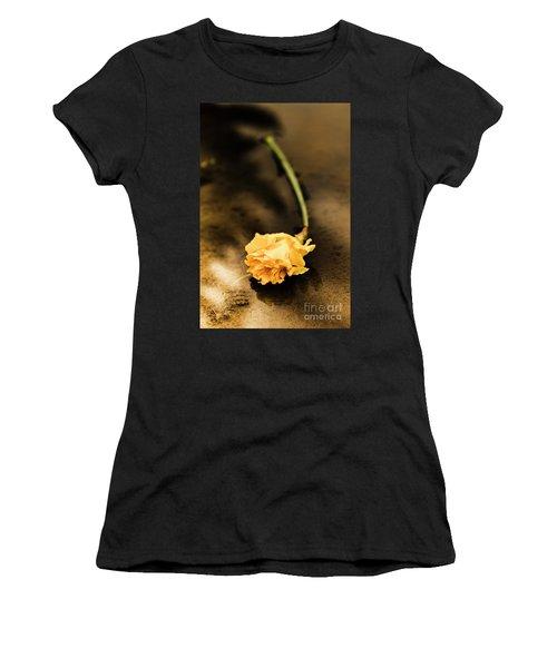 Wilting Puddle Flower Women's T-Shirt