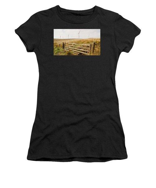 Wind Farm On Miller's Moss. Women's T-Shirt