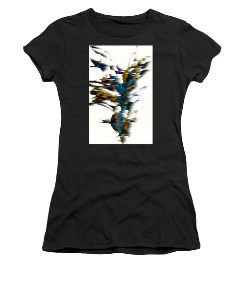 Women's T-Shirt (Athletic Fit) featuring the painting Wind Series 08.072311wscvss by Kris Haas